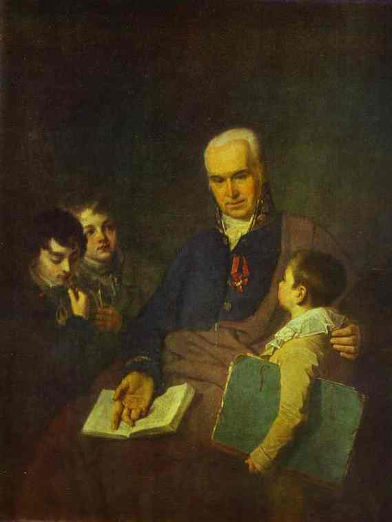 Portrait Of Ki Golovachevsky And The Younger Pupils Of The Academy 1811 | Alexey Venetsianov | Oil Painting
