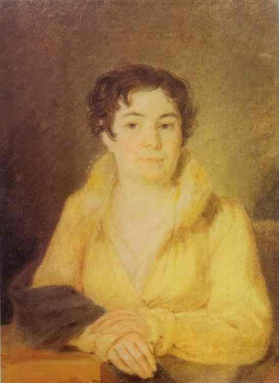 Portrait Of Lubov Stromilova 1820-21 | Alexey Venetsianov | Oil Painting
