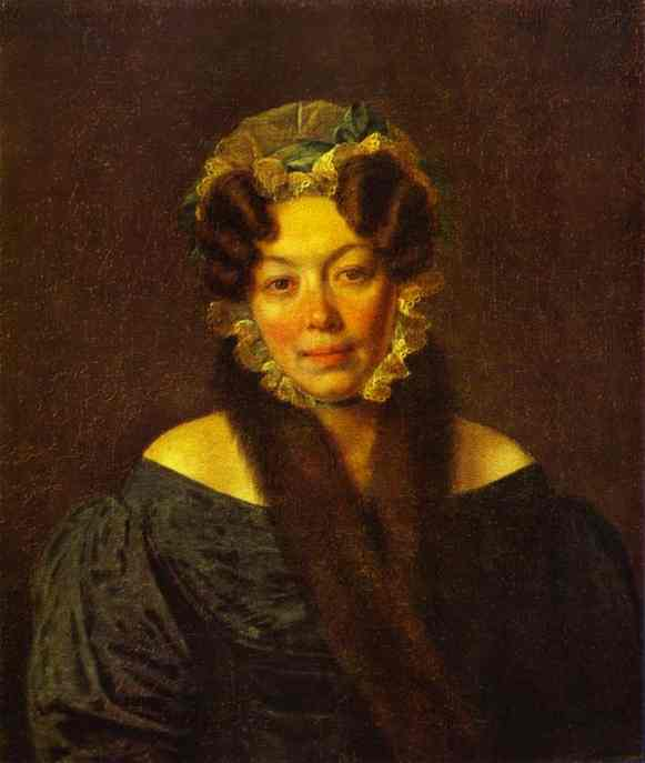 Portrait Of Mm Philosophova 1828 | Alexey Venetsianov | Oil Painting