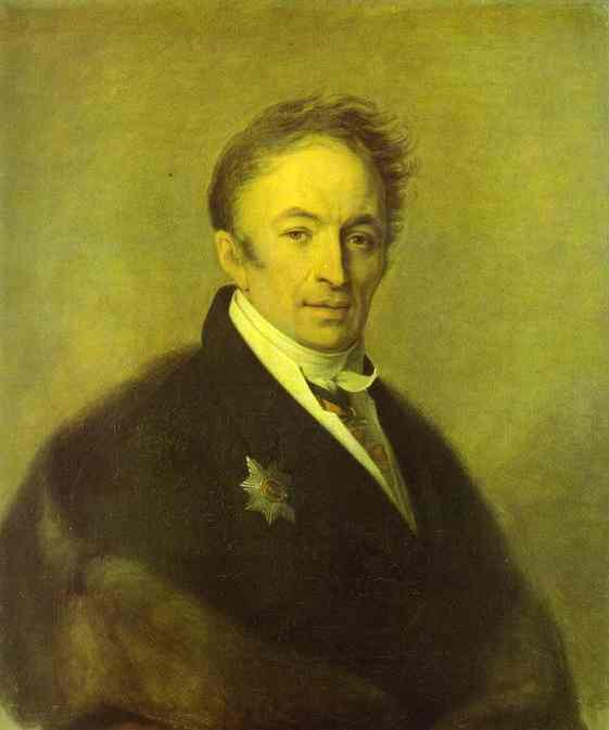 Portrait Of Nikolay Karamzin 1828 | Alexey Venetsianov | Oil Painting