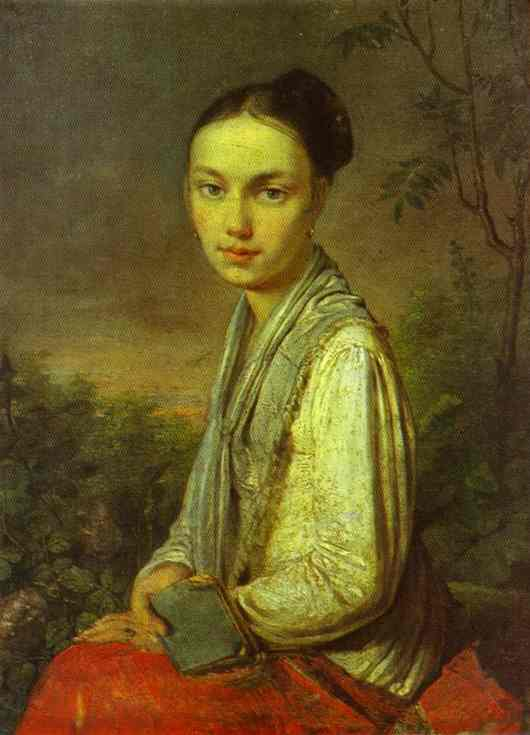 Portrait Of Vs Putyatina 1815-1816 | Alexey Venetsianov | Oil Painting