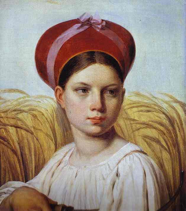 Reaper 1820s   Alexey Venetsianov   Oil Painting