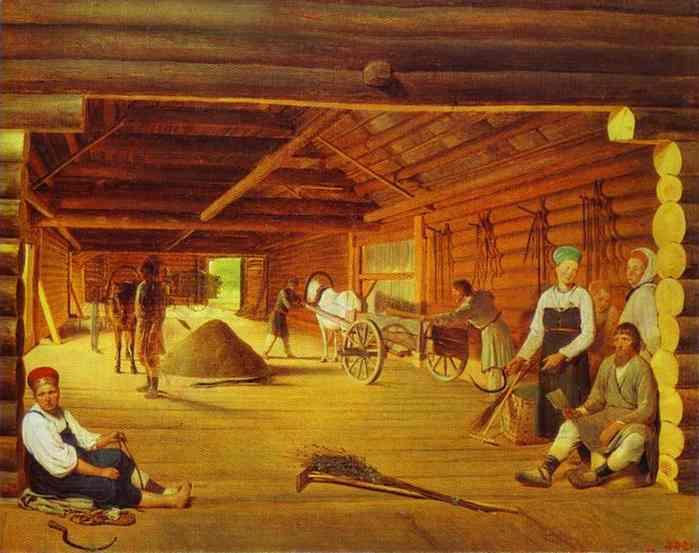 Threshing Floor 1821-1822 | Alexey Venetsianov | Oil Painting