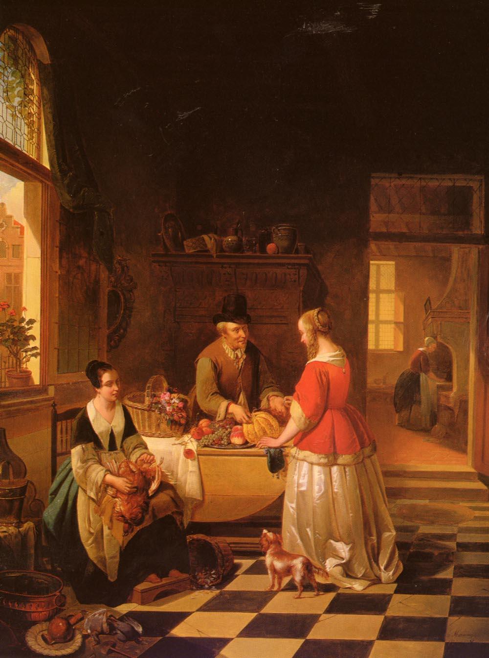 The Fruit Seller | Alexis Van Hamme | Oil Painting