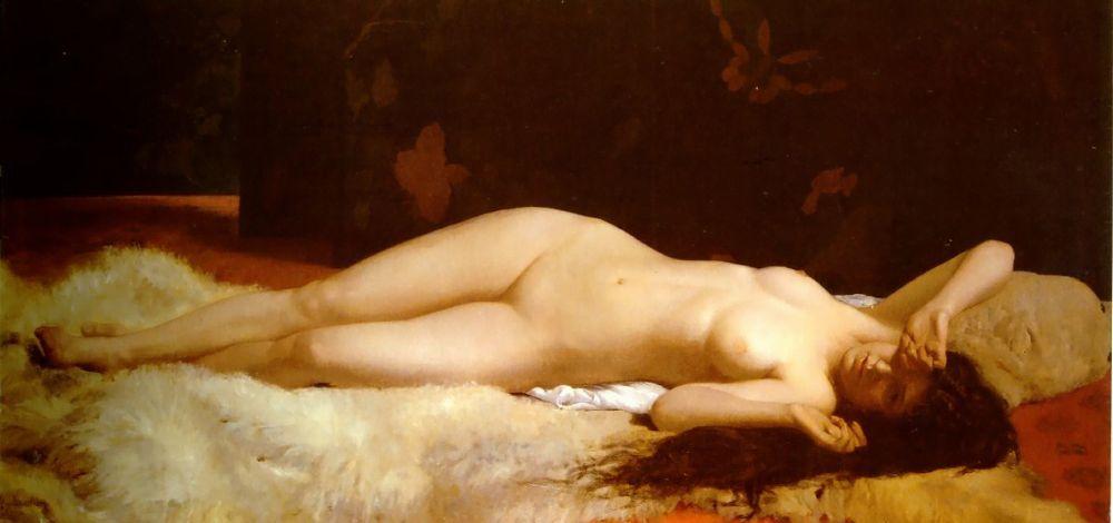 Le Reveil   Alfonse Eugene Felix Lecadre   Oil Painting