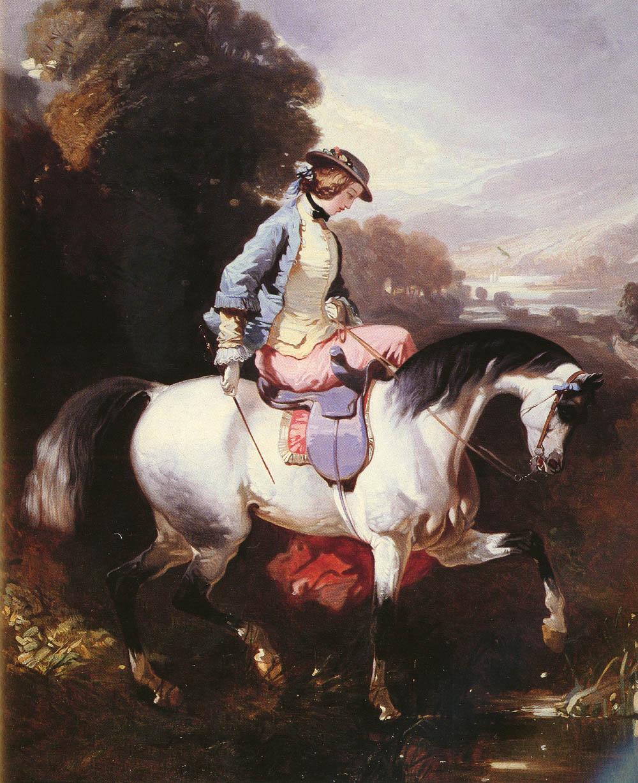 An Elegant Equestrienne | Alfred De Dreux | Oil Painting