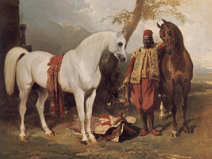 The Mounts of Abd El Kader | Alfred De Dreux | Oil Painting