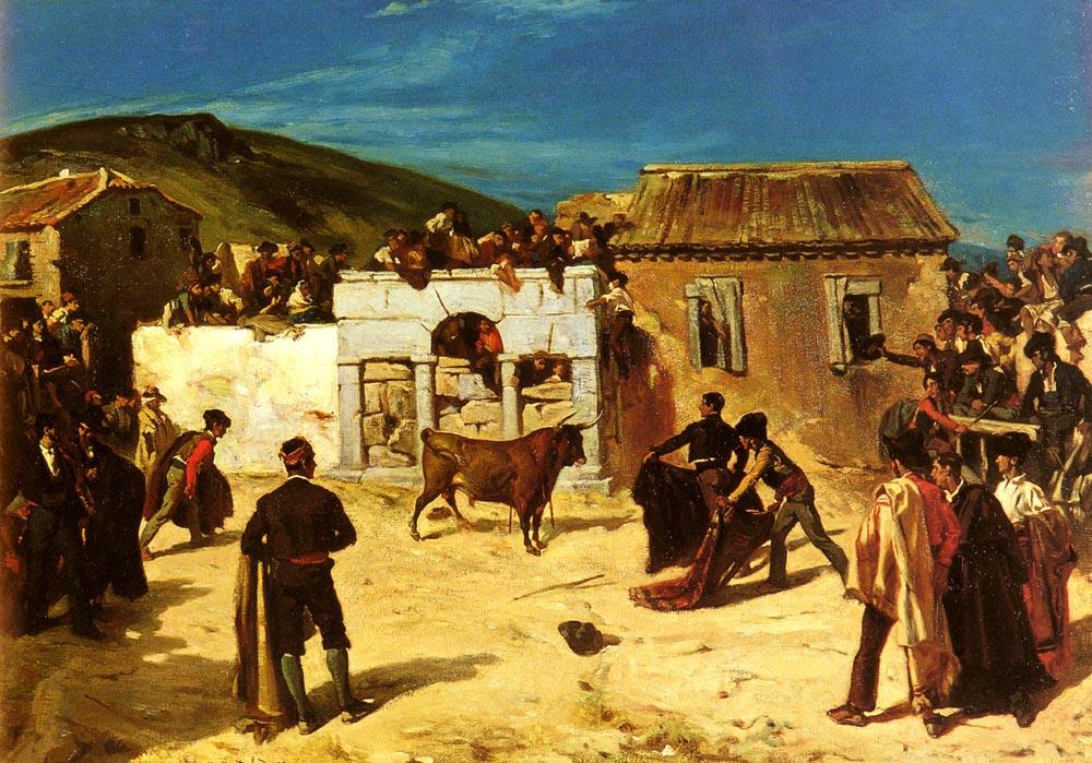 Combat De Novillos | Alfred Dehodencq | Oil Painting