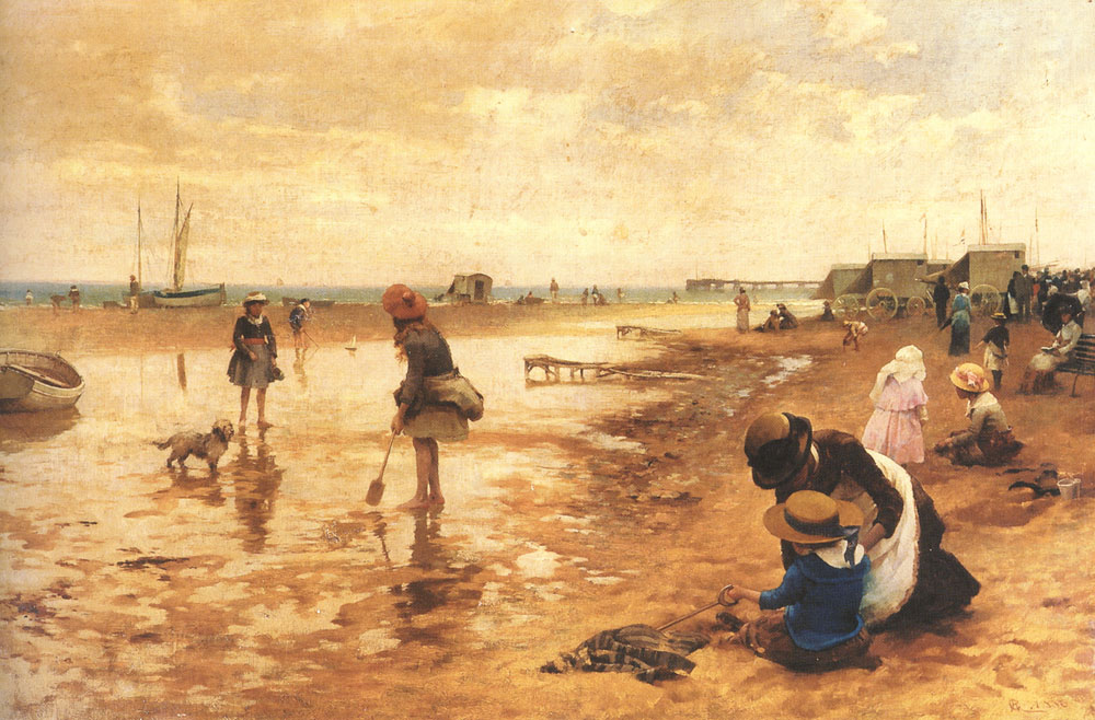 A Day at the Seaside | Alfred Glendening | Oil Painting