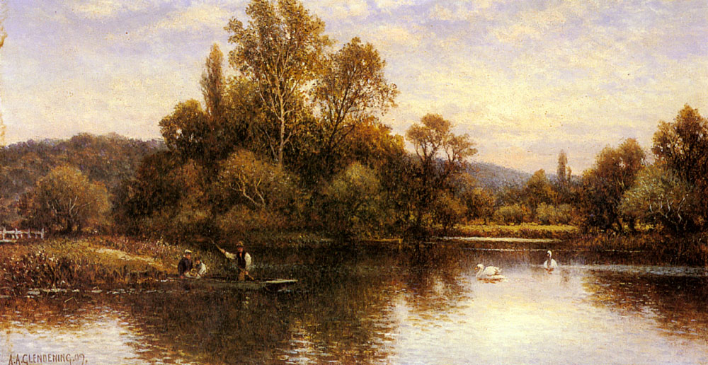 Augustus The Ferry | Alfred Glendening | Oil Painting