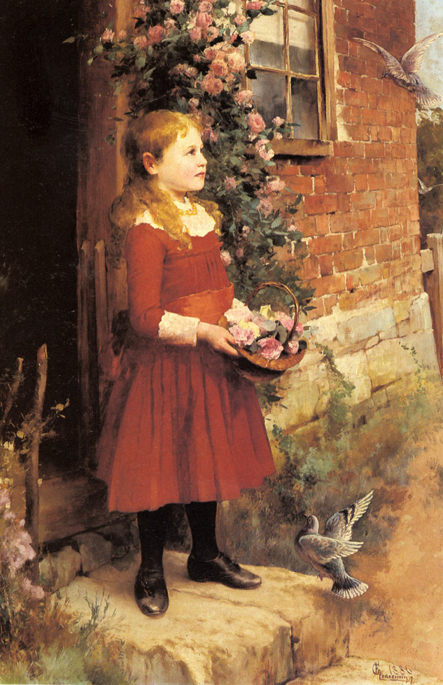 Jr Alfred Augustus The Youngest Daughter Of J S Gabriel | Alfred Glendening | Oil Painting