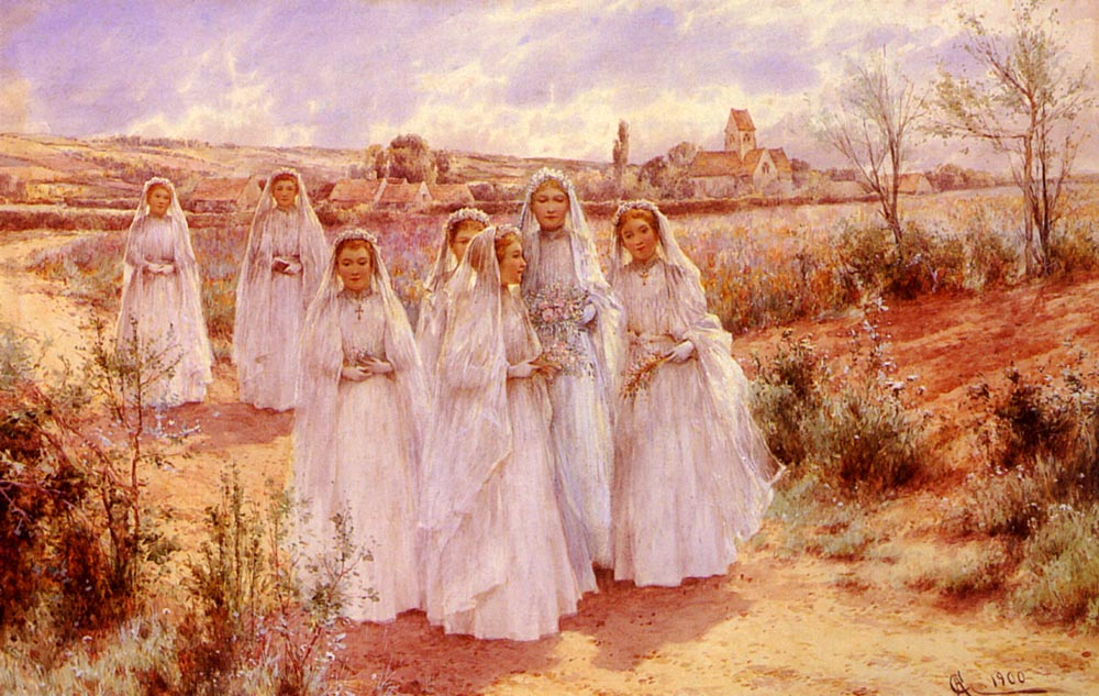 Returning From Confirmation | Alfred Glendening | Oil Painting