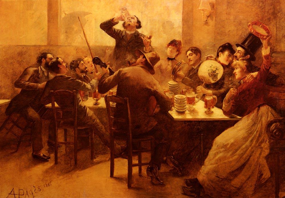 La Vie De Boheme | Alfred Pages | Oil Painting