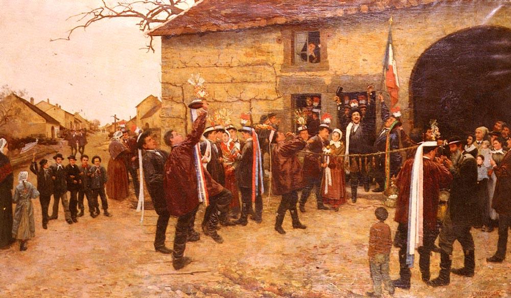 Les Conscrits | Alfred Pierre Joseph Jeanmougin | Oil Painting