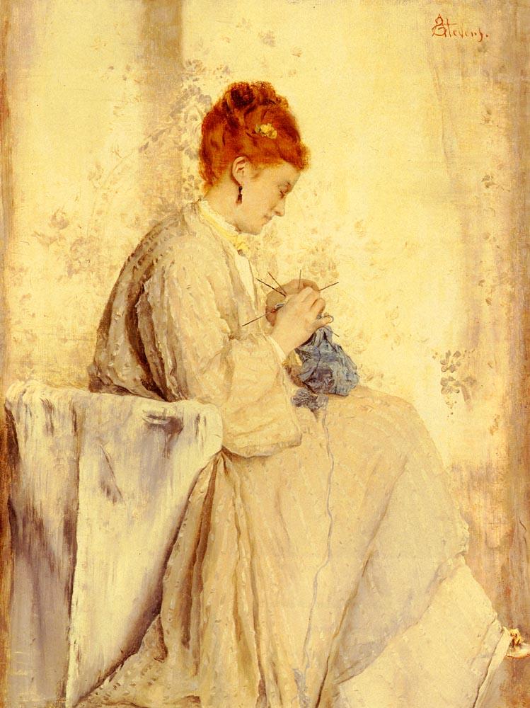 La Tricoteuse | Alfred Stevens | Oil Painting