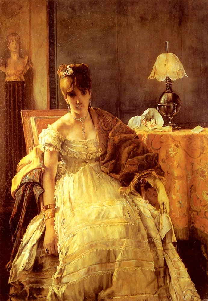 Lovelorn | Alfred Stevens | Oil Painting
