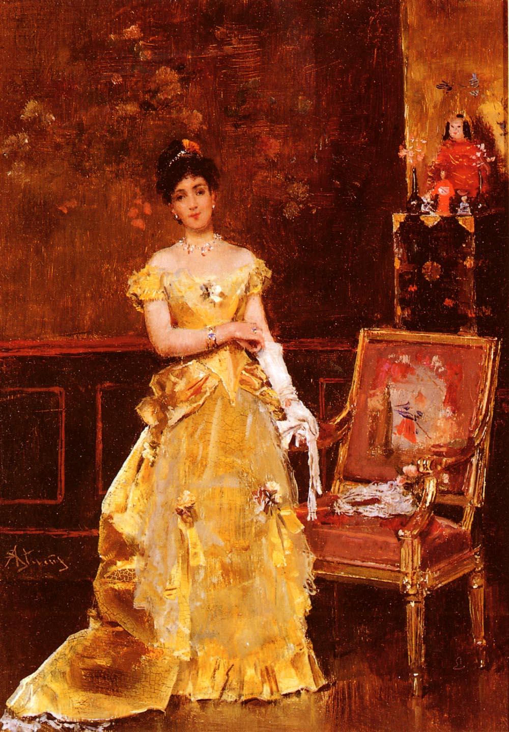 Preparing For The Ball | Alfred Stevens | Oil Painting