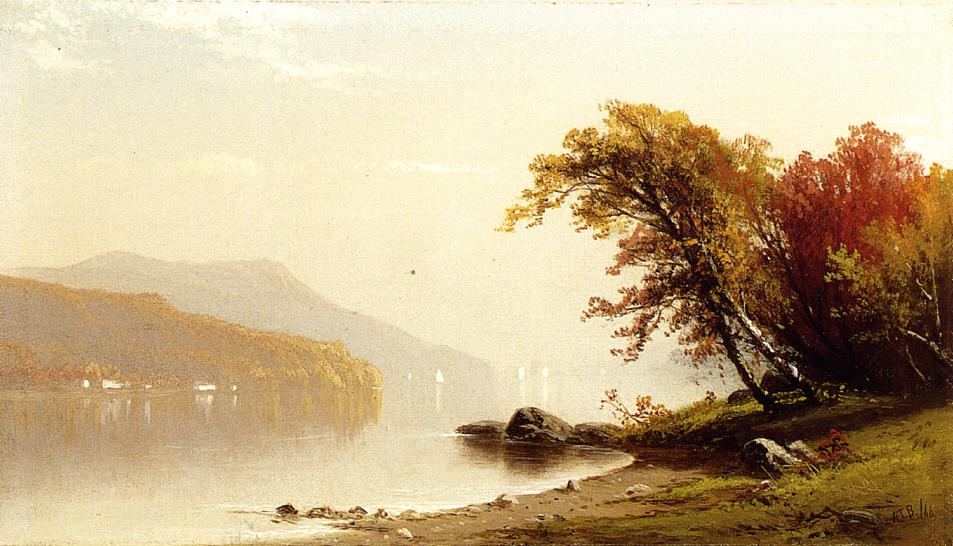 Autumn on the Lake 1866 | Alfred Thompson Bricher | Oil Painting