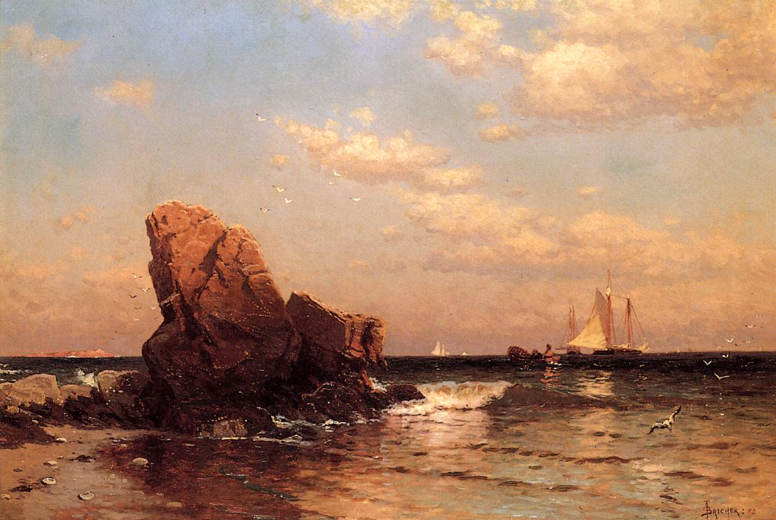 By the Shore 1883 | Alfred Thompson Bricher | Oil Painting