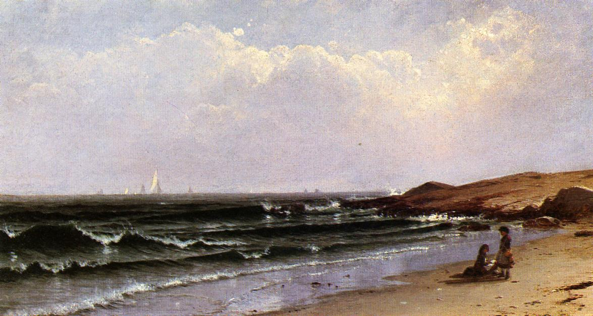 Children at the Seashore 1874 | Alfred Thompson Bricher | Oil Painting