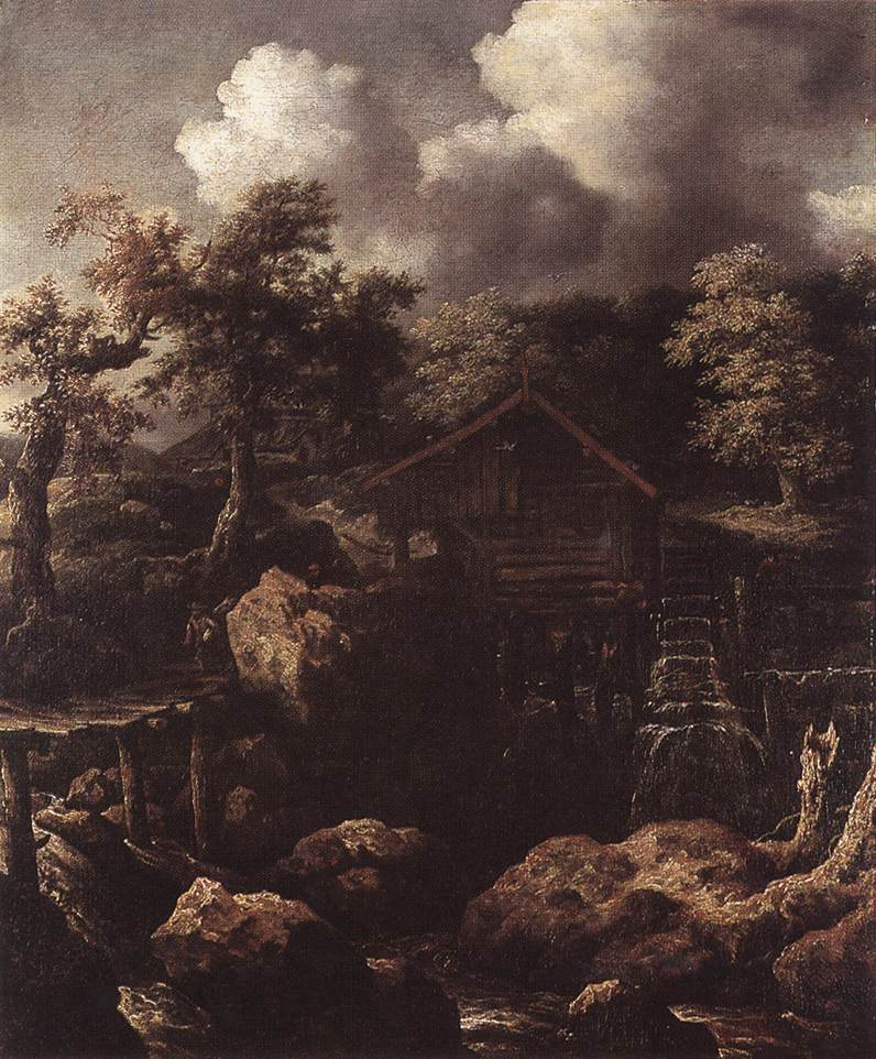 Forest Scene With Water Mill 1650 | Allaert Van Everdingen | Oil Painting
