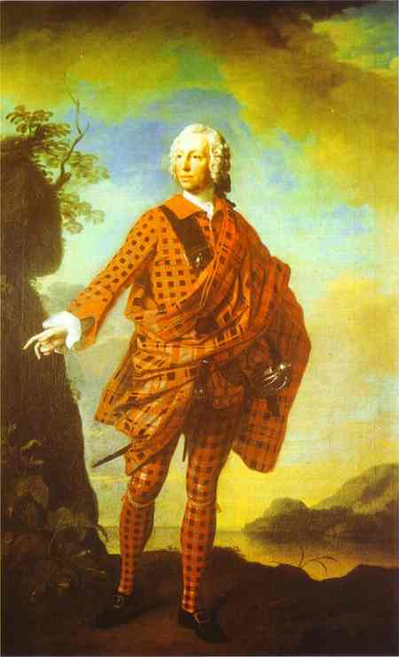 Norman The Red Man 22nd Chief Of Macleod 1747   Allan Ramsay   Oil Painting