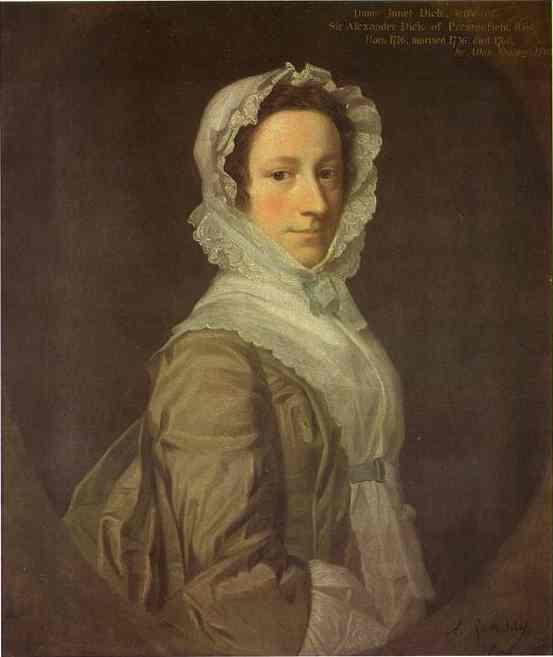 Portrait Of Janet Dick 1748 | Allan Ramsay | Oil Painting