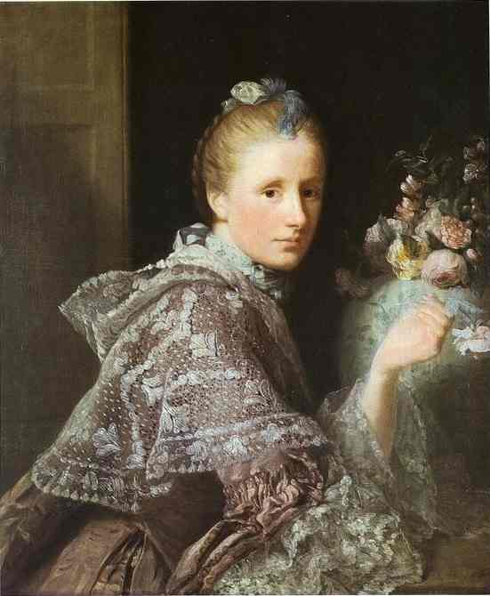Portrait Of Margaret Lindsay Mrs Allan Ramsay 1757 | Allan Ramsay | Oil Painting