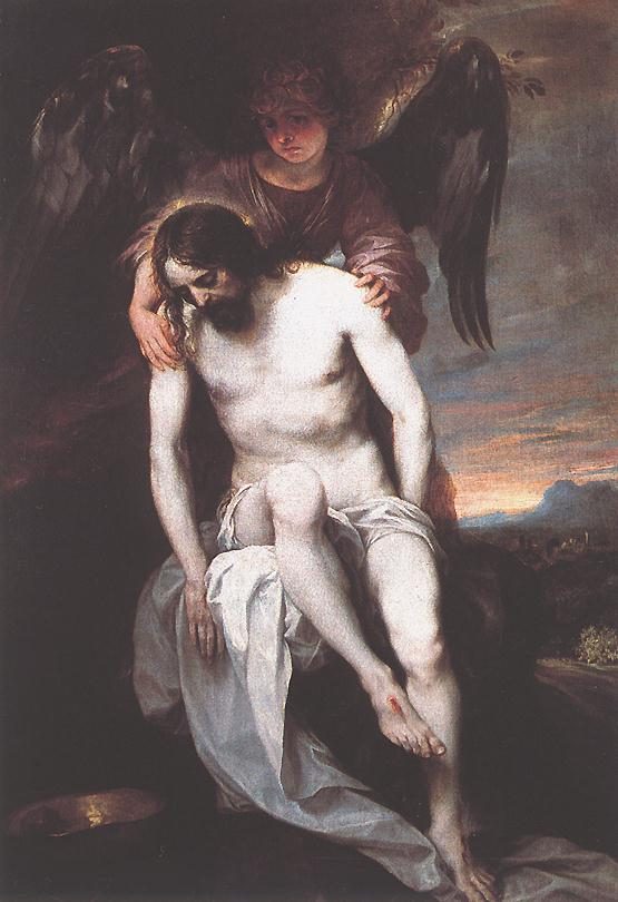 The Dead Christ Supported By An Angel 1646-52 | Alonso Cano | Oil Painting