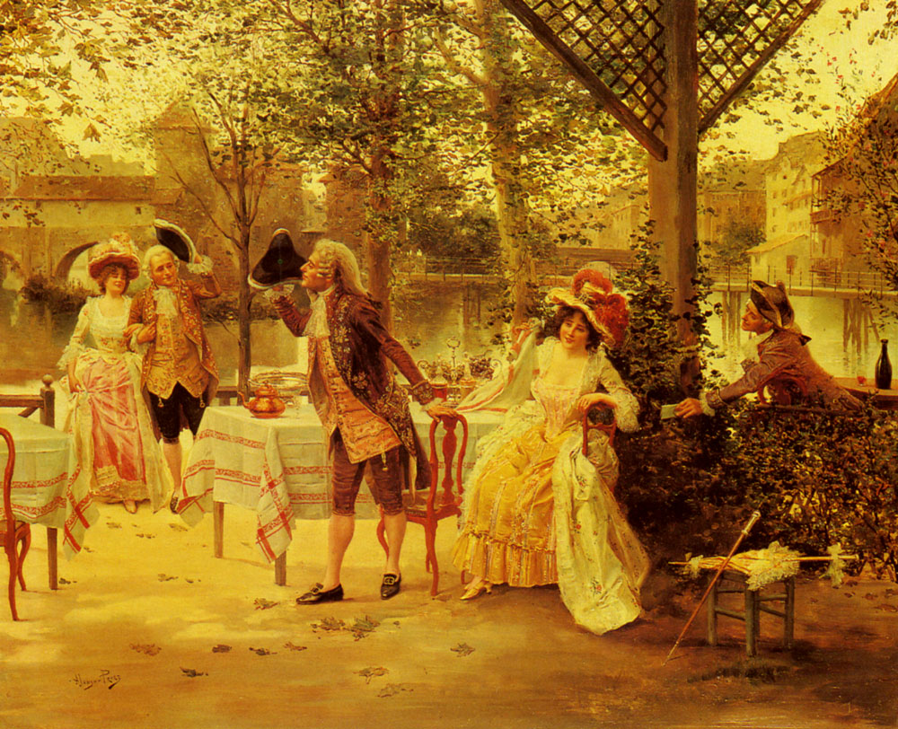 A Cafe By the River | Alonso Perez | Oil Painting