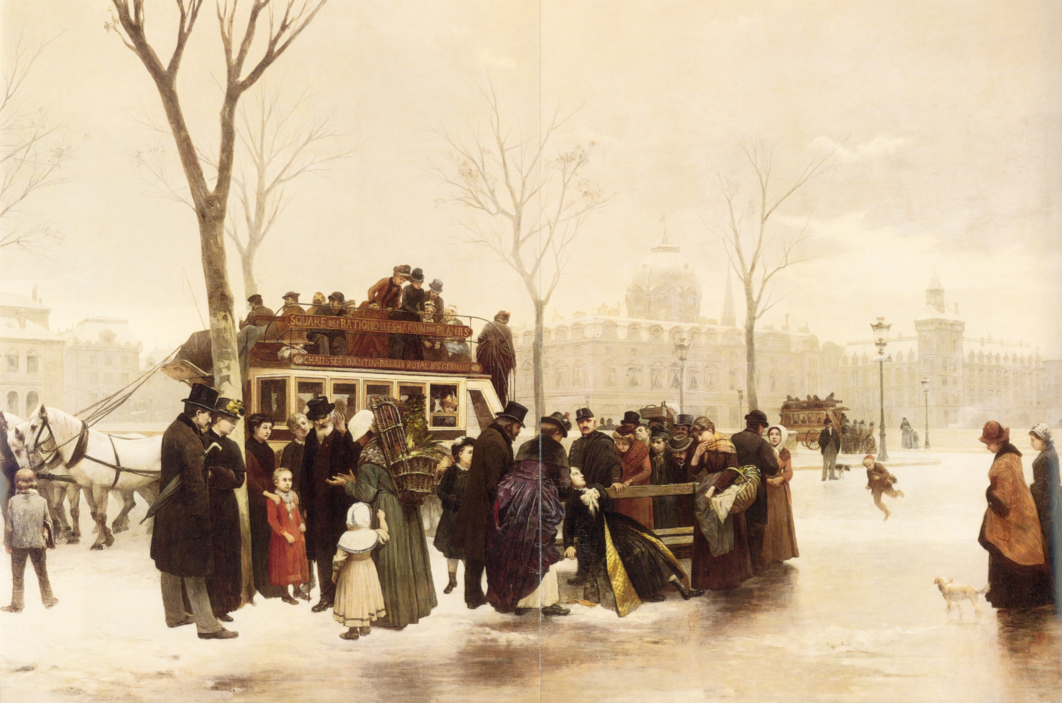 A Disturbance on Le Quai de Gesvres Paris | Alphonse Cornet | Oil Painting