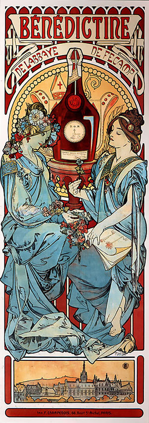 Benedictine 1898 | Alphonse Mucha | Oil Painting