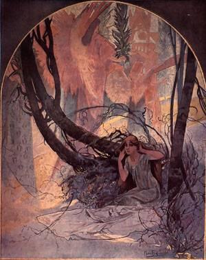 Easter Chimes Awaken Nature | Alphonse Mucha | Oil Painting