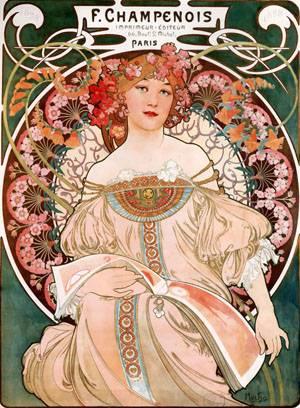 F Champenois Imprimeur-Editeur | Alphonse Mucha | Oil Painting