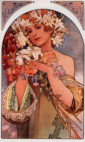 Flower 1897 | Alphonse Mucha | Oil Painting