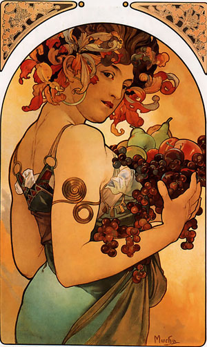 Fruit 1897 | Alphonse Mucha | Oil Painting
