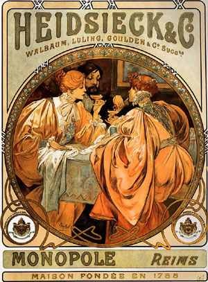 Heidsieck and Co 1901 | Alphonse Mucha | Oil Painting