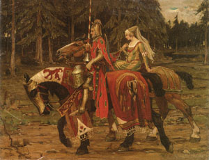 Heraldic Chivalry | Alphonse Mucha | Oil Painting