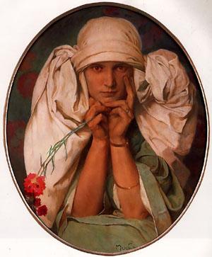 Jaroslava 1920 | Alphonse Mucha | Oil Painting