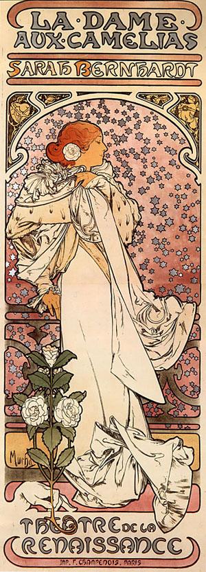 La Dame aux Camelias 1896 | Alphonse Mucha | Oil Painting