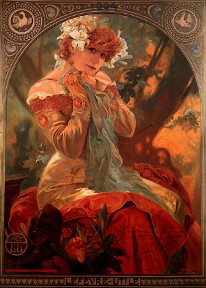 Lefevre-Utile 1903 | Alphonse Mucha | Oil Painting