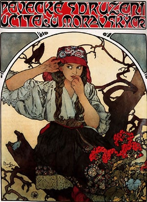 Moravian Teachers Choir 1911 | Alphonse Mucha | Oil Painting