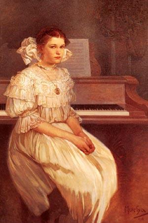 Maria Portrait Of Milada Cerny | Alphonse Mucha | Oil Painting