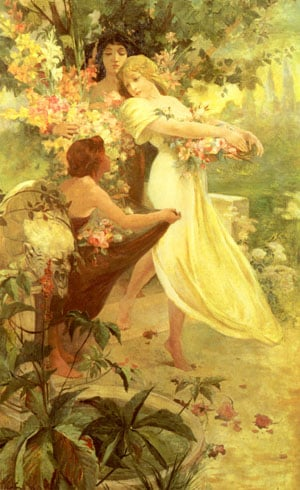 Spirit Of Spring | Alphonse Mucha | Oil Painting