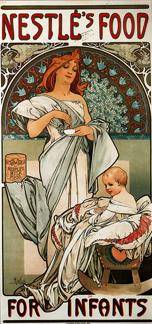 Nestles Food for Infants 1897 | Alphonse Mucha | Oil Painting