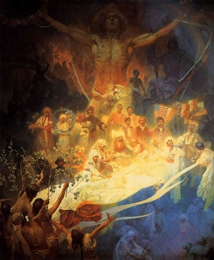 The Apotheosis of the Slavs 1926 | Alphonse Mucha | Oil Painting