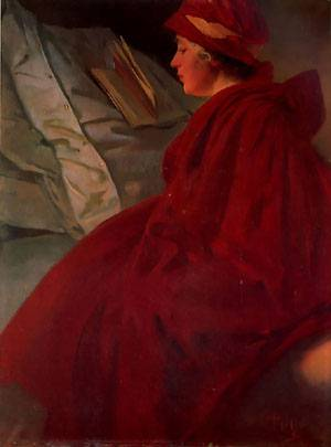 The Red Cape | Alphonse Mucha | Oil Painting