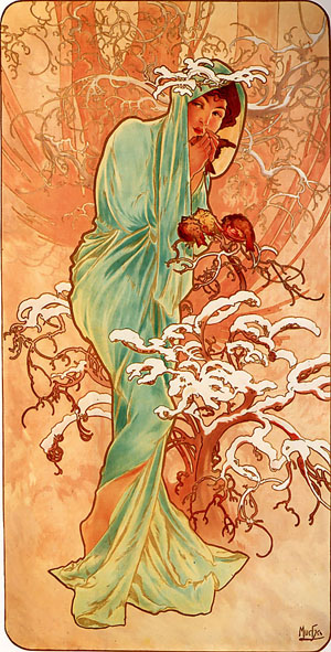Winter 1896 | Alphonse Mucha | Oil Painting