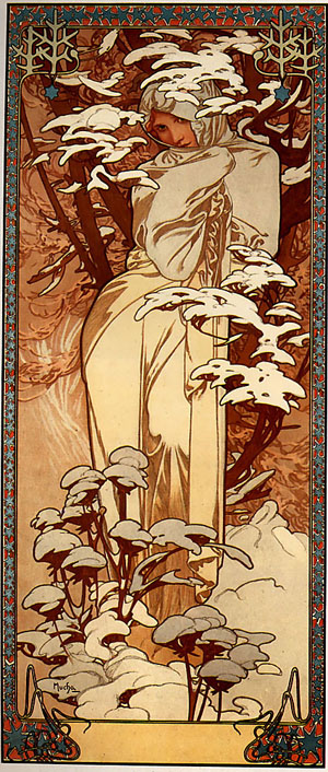 Winter 1897 | Alphonse Mucha | Oil Painting