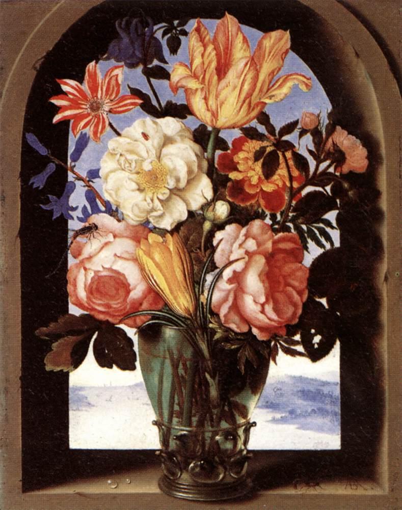 Bouquet Of Flowers 1620 | Ambrosius The Elder Bosschaert | Oil Painting